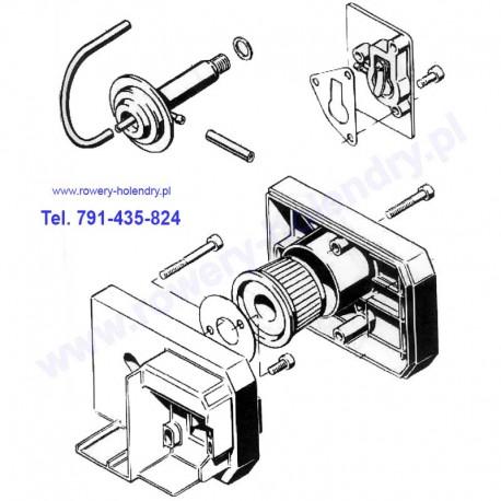 Schemat filtr - dekompresator - płytka z zaworkiem - rower z silnikiem Sachs 301A